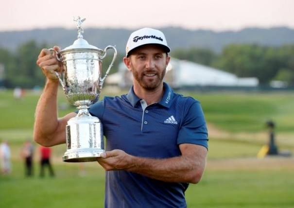 Dustin Johnson won at the US Open at Oakmount for his First Major Title, photo courtesy of TopNews Facebook