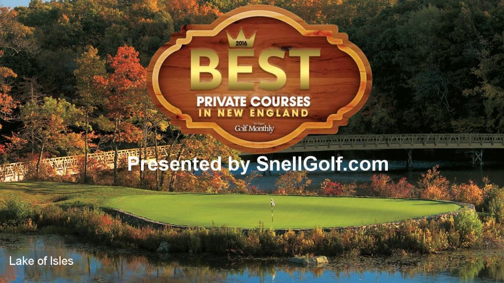 2016 Best Private Courses in New England