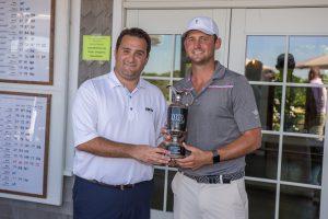Jesse Menachem, MGA Executive Director congratulates 2016 Champion Matt Parziale.