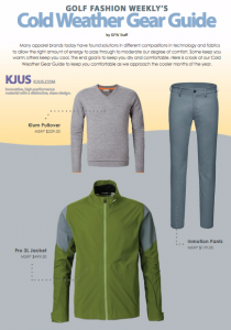 This month's Golf Fashion Weekly section