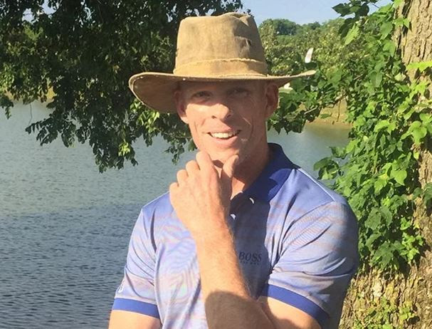 James Driscoll, Professional Golfer, with his completely unique, Real Deal Brazil Original Tarp hat.