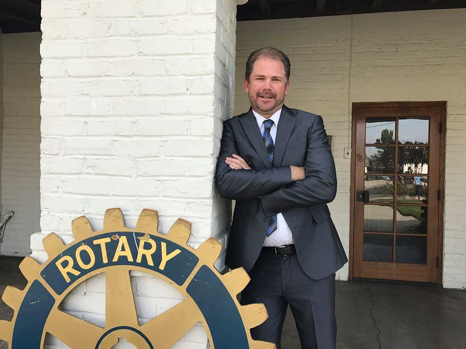 Zeb Welborn at the Chino Rotary Club, photo courtesy of Chino Rotary Club Facebook